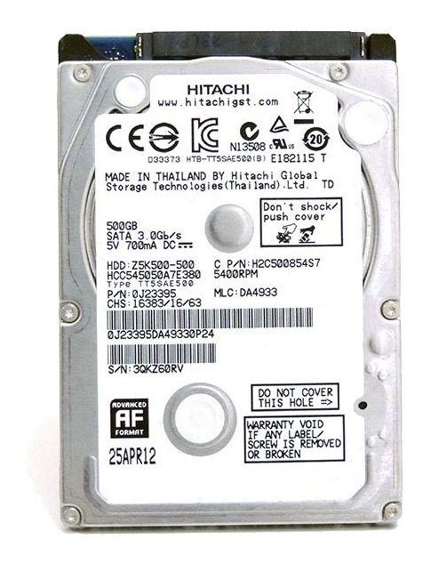 HD NOTEBOOK   SATA   SEAGATE   500GB   S/N