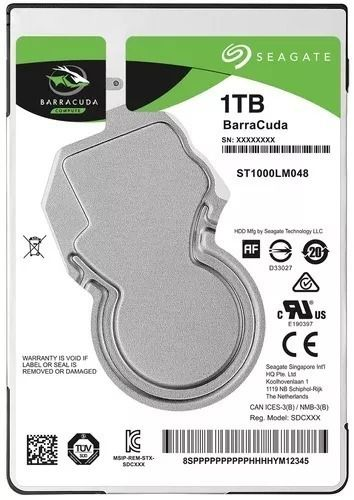 HD NOTEBOOK | SATA | ST1000LM048 | SEAGATE BARRACUDA | 1TB