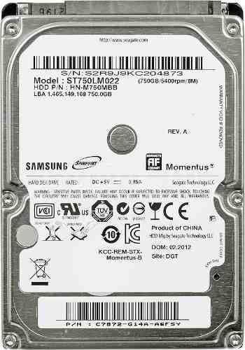 HD NOTEBOOK | SATA | ST750LM022 | SAMSUNG | 750GB | S/N
