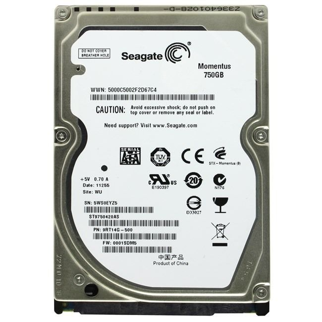 HD NOTEBOOK | SATA | ST9750420AS | SEAGATE | 750GB | S/N