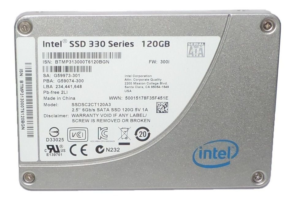 HD SSD | SATA 330 SERIES | INTEL | 120GB