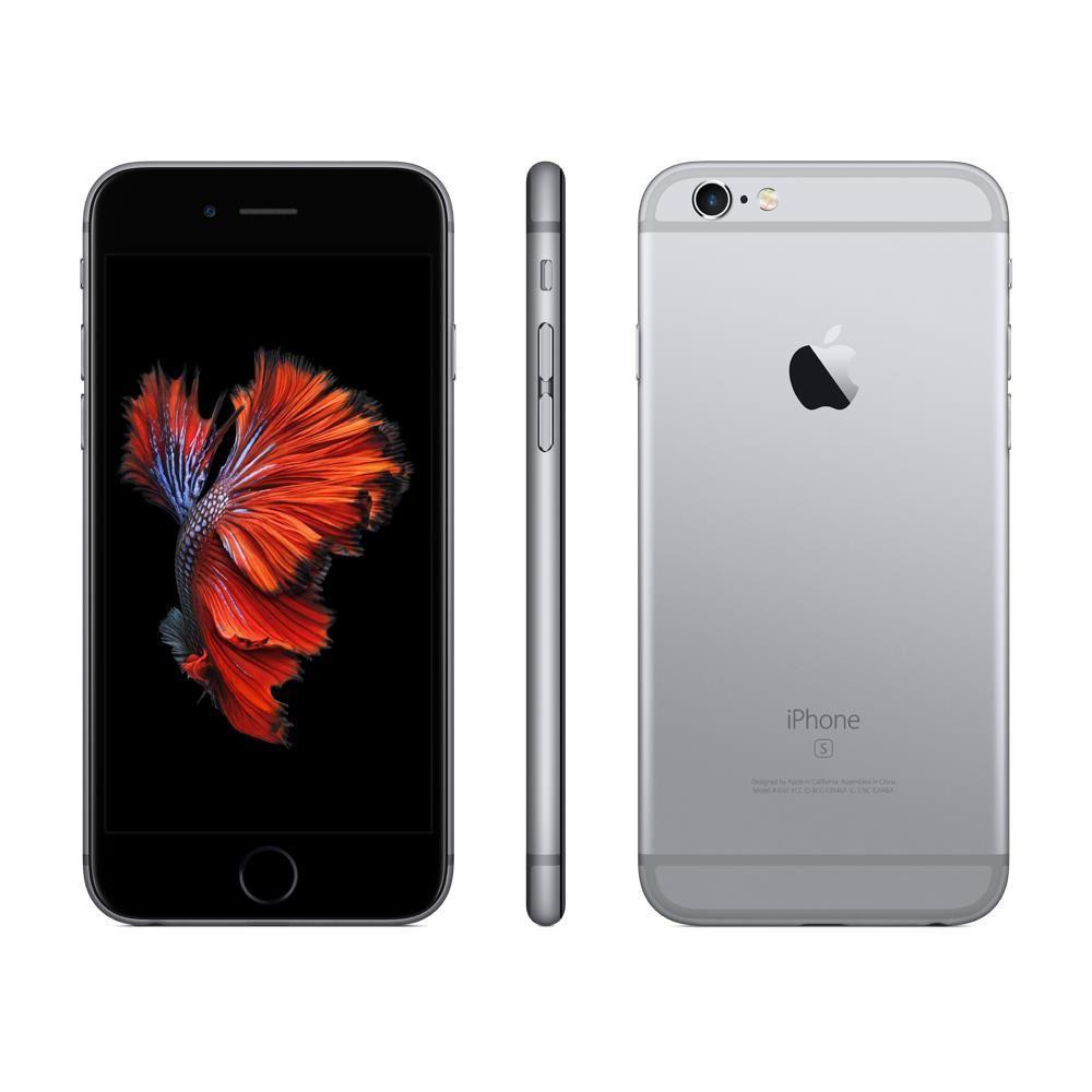 "iPhone 6 Apple com 3D Touch, iOS 13, Sensor Touch ID, Câmera iSight 12MP, Wi-Fi, 4G, GPS, Bluetooth e NFC, 64GB, Cinza Espacial, Tela 4,7"""