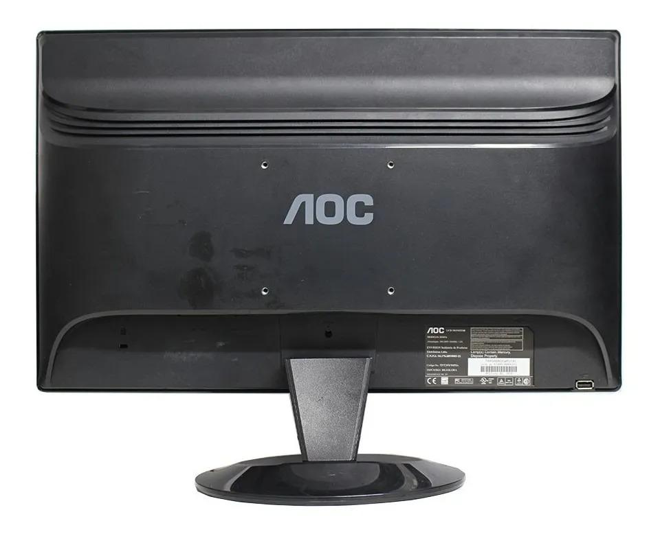 """Monitor AOC 2036VA 20"""" Polegadas LCD Widescreen - Entradas VGA / DVI / USB-B"""