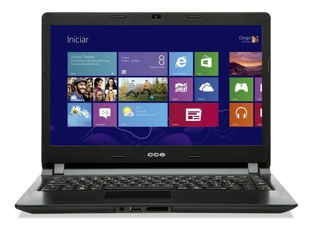 NOTEBOOK | CCE | U25 | CELERON | RAM 4GB DDR3 | HD 500GB