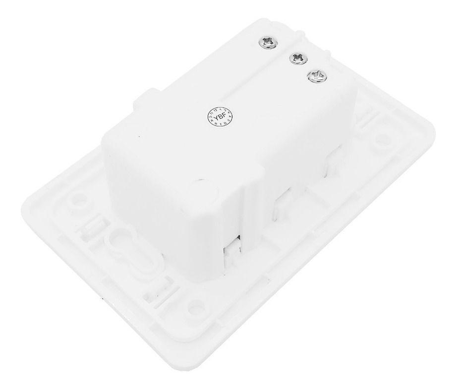 TOMADA E CARREGADOR USB | YBF | B-20 | 2 TOMADAS E 2 PORTAS USB