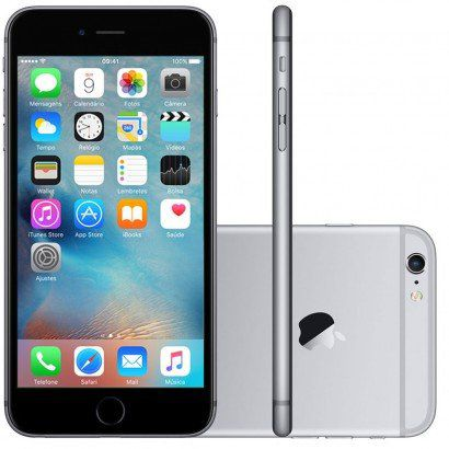 SMARTPHONE | APPLE | iPHONE 6 | 64GB | CINZA ESPACIAL | IMEI 35579007281343