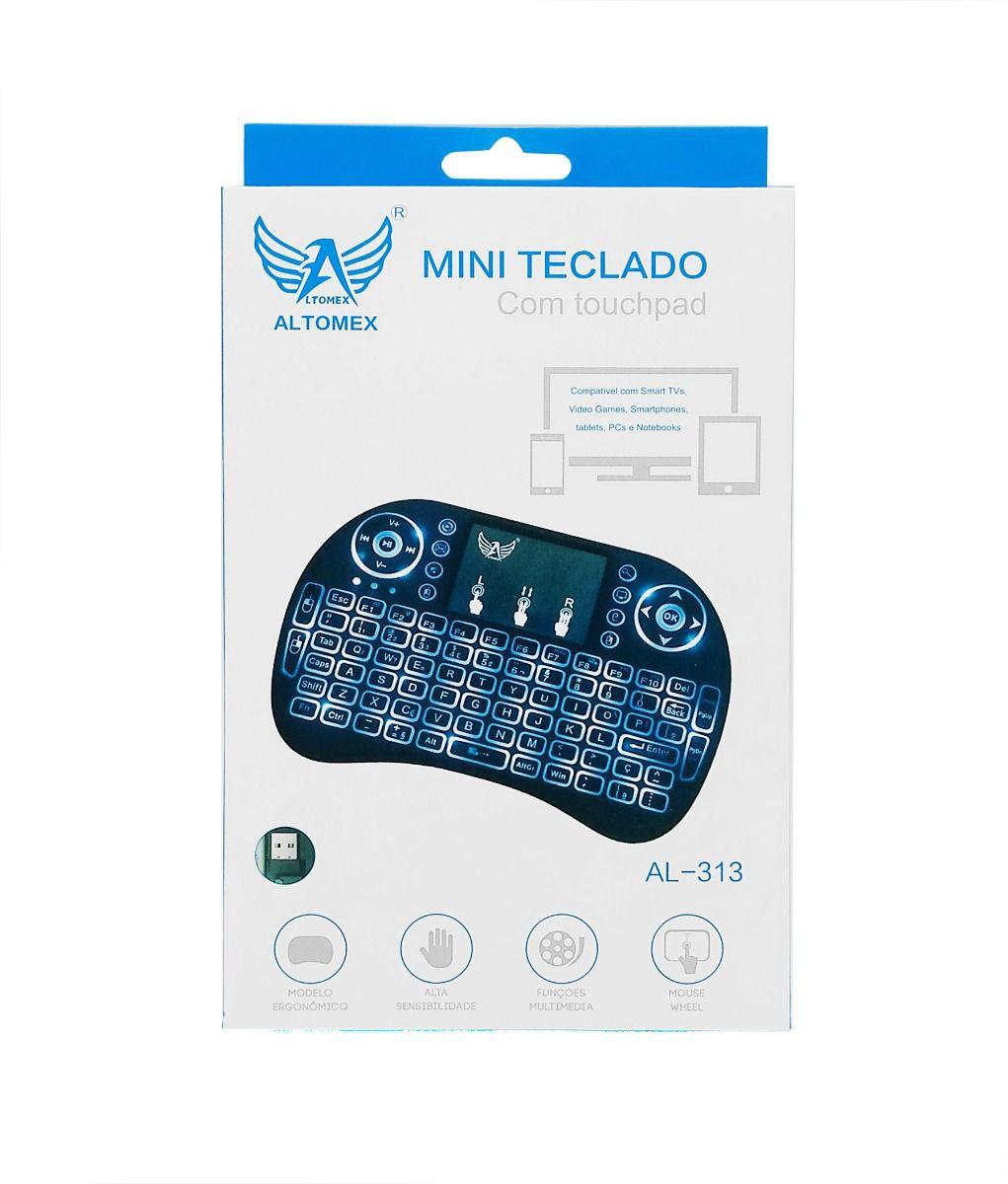 TECLADO | USB | SEM FIO | ALTOMEX | AL-313 | BRANCO