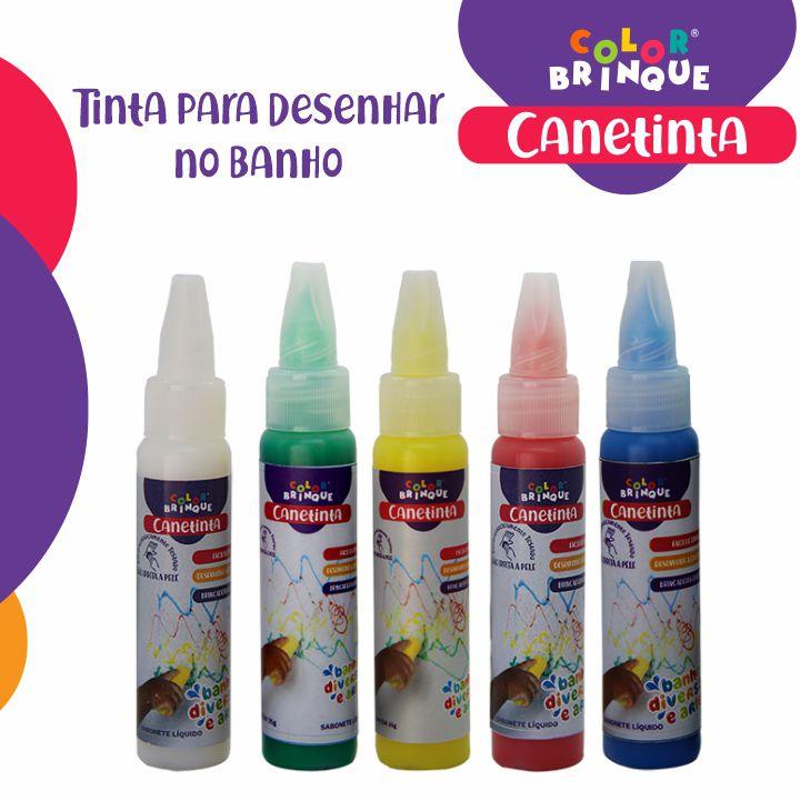 Canetinta  - Color Brinque - Tinta para desenhar no banho