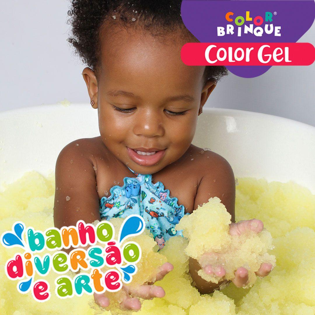 Color Gel - AMARELO - Transforma a água da banheira em Gel para brincar