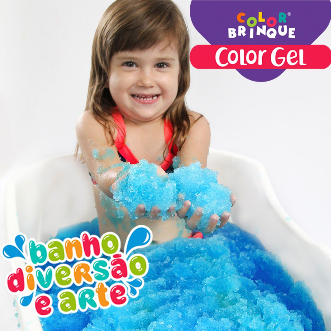 Color Gel - AZUL- Transforma a água da banheira em Gel para brincar