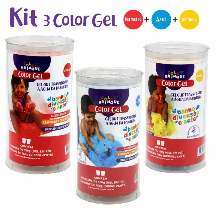 Color Gel Kit com 3 - Azul, Amarelo e Vermelho.