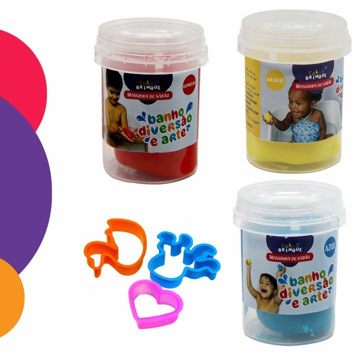 Massinha de Sabão - Color Brinque - Massinha para brincar na água