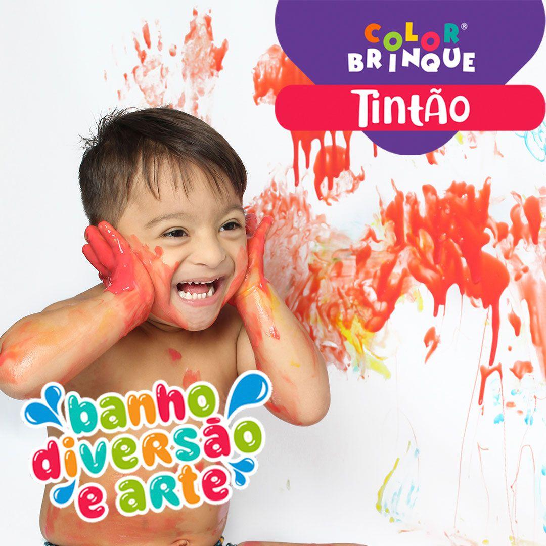 Tintão - Color Brinque - Tinta de sabão para pintar no banho