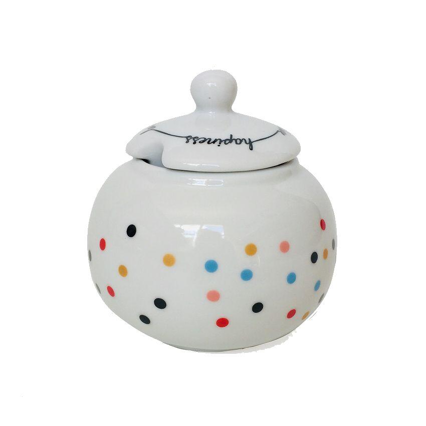 Açucareiro em Porcelana Dots