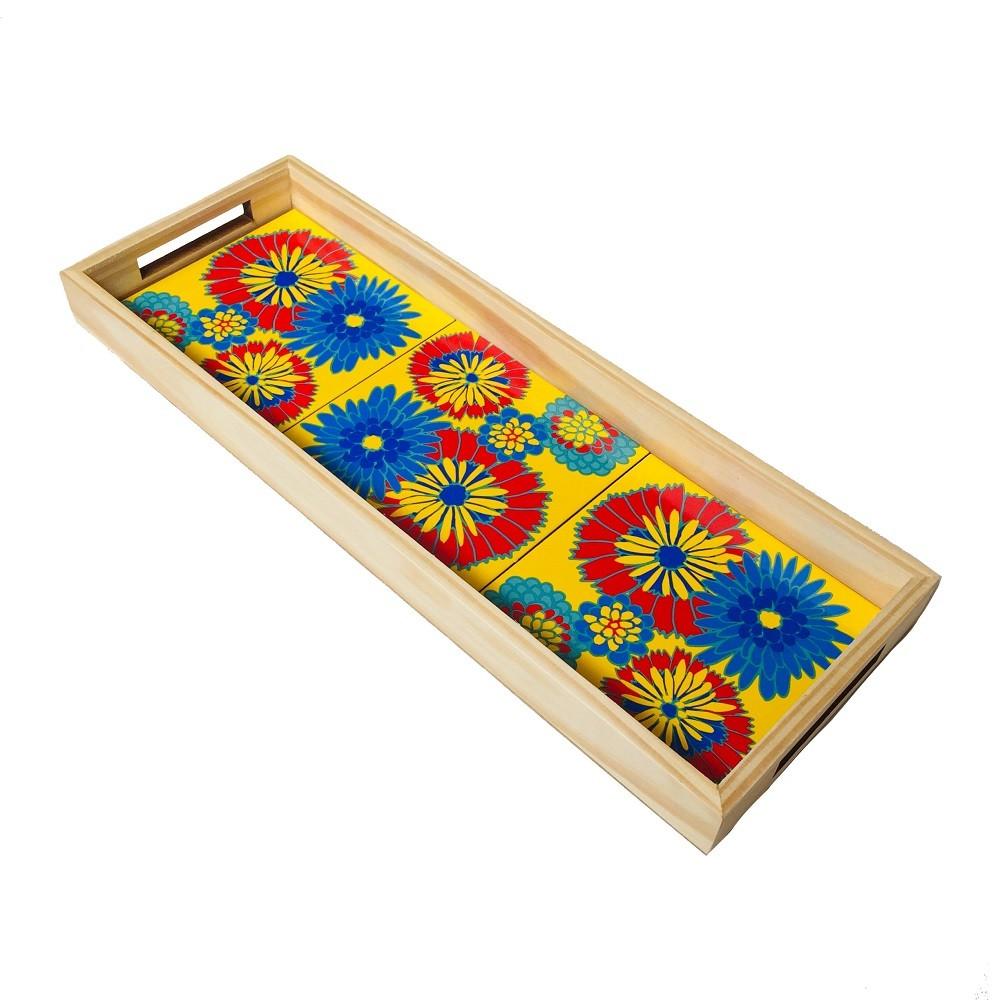 Bandeja Chita Amarela 3 Azulejos