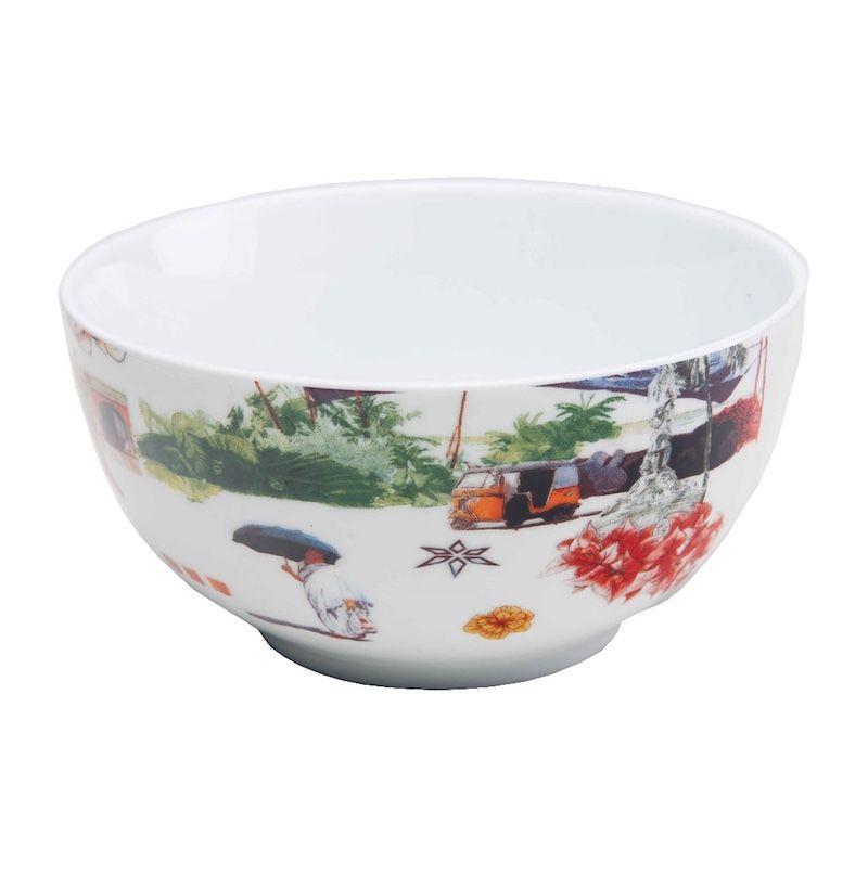 Bowl de Porcelana Caminho da Índia