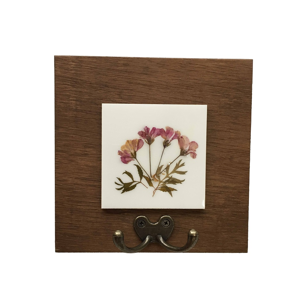 Cabideiro Gancho Duplo Floral
