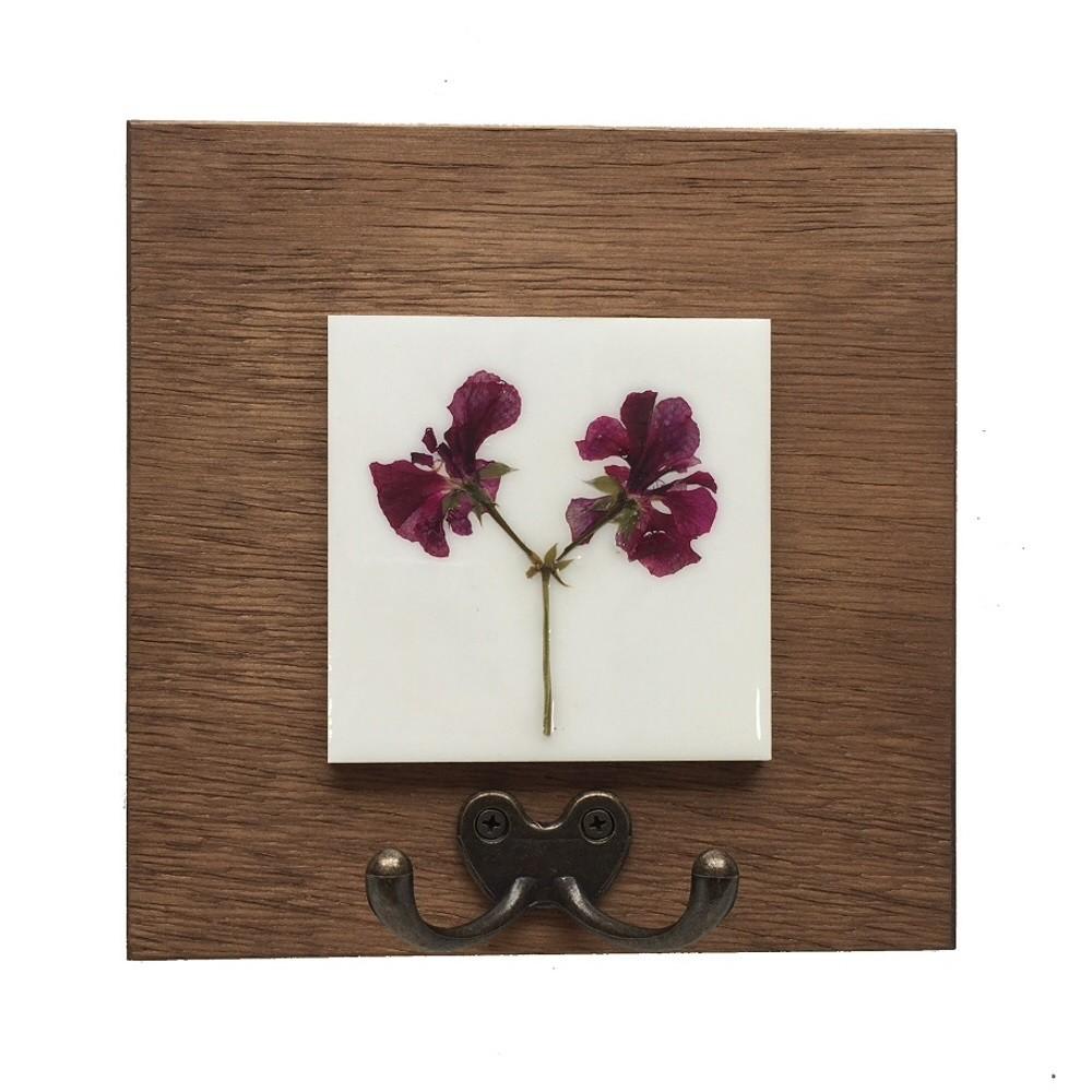 Cabideiro Gancho Duplo Orquídea