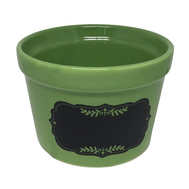 Cachepô Cerâmico Lousa Verde