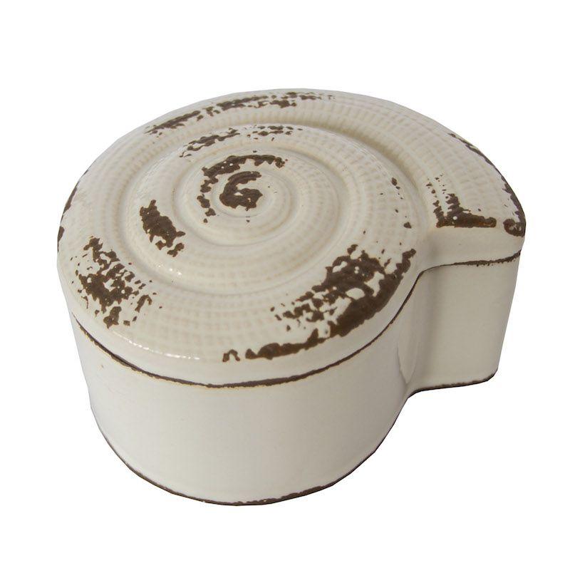 Caixa Cerâmica Snail Branca