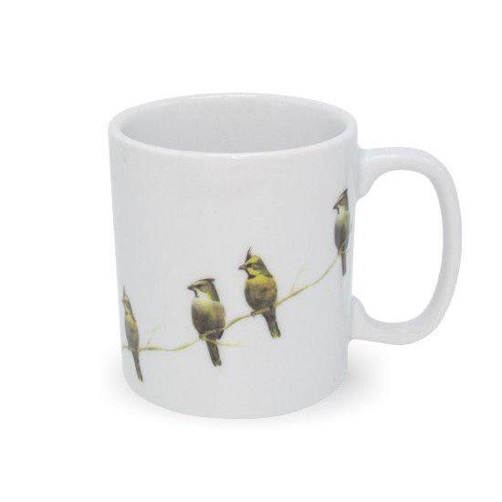 Caneca de Porcelana Cardeal Amarelo