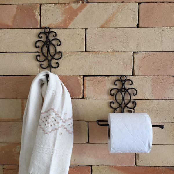 Conjunto de Acessórios de Banheiro em Ferro Rococó