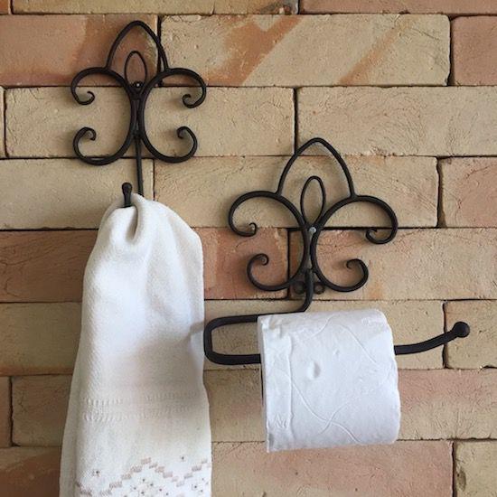 Conjunto de Acessórios de Banheiro em Ferro Suri