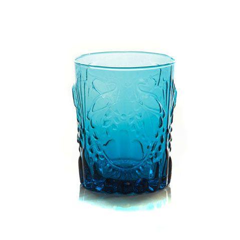 Copo de Vidro Lely Azul - Jg 4 peças