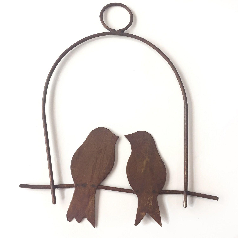 Decoração de Parede Gaiola 2 Pássaros