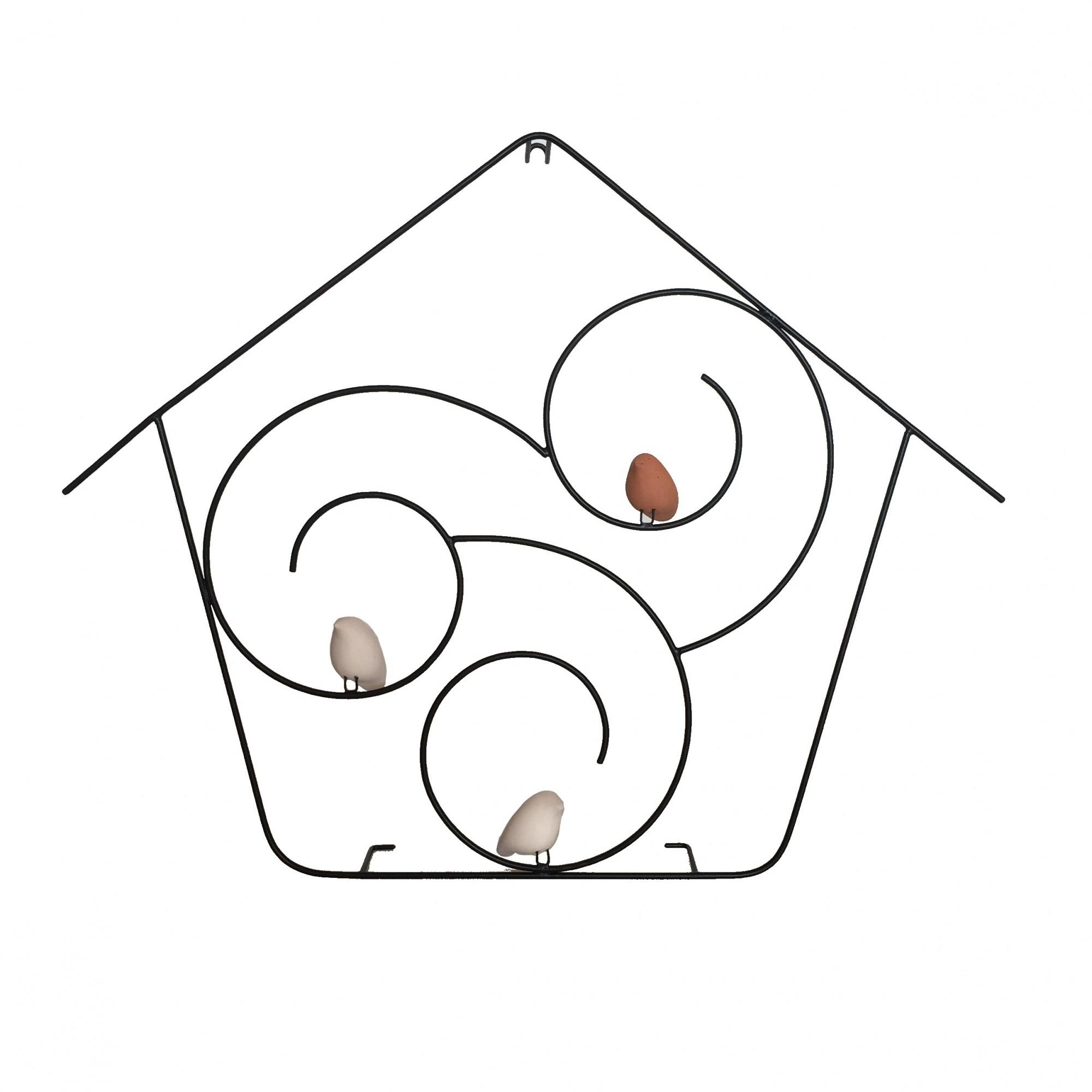 Escultura de Parede Casa de Passarinho