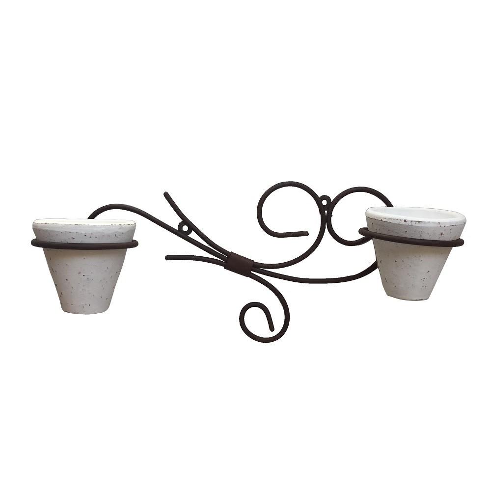 Floreira com 2 Vasos Arabesco