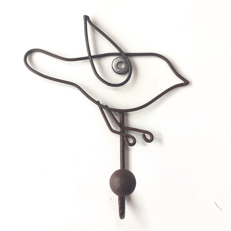 Gancho de Parede Wire Bird