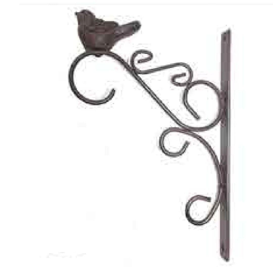 Gancho para Plantas em Ferro Pássaro Antique