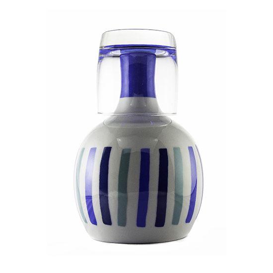 Moringa de Porcelana para Água Listras Azuis
