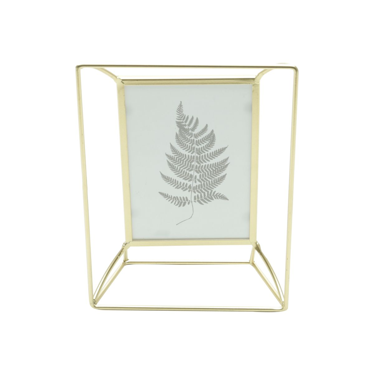 Porta Retrato Wire Frame Dourado 10x15