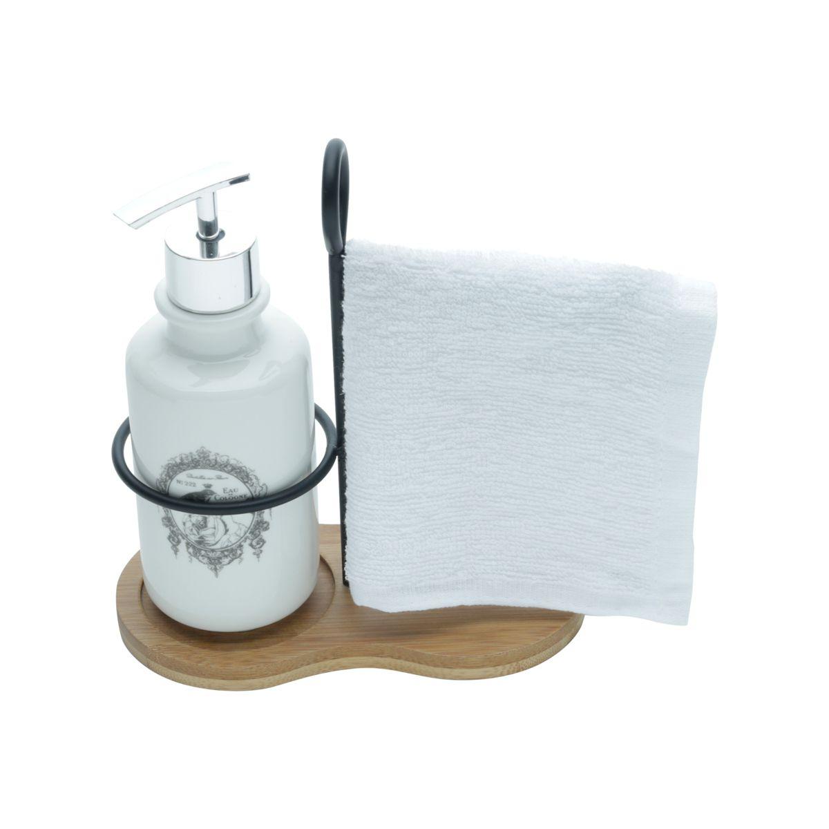 Porta Sabonete Líquido Branco My Bath