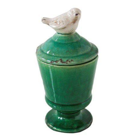 Pote Cerâmico Little Bird  Verde