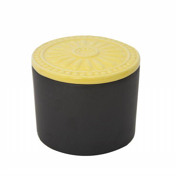 Pote Chalkboard Amarelo e Preto