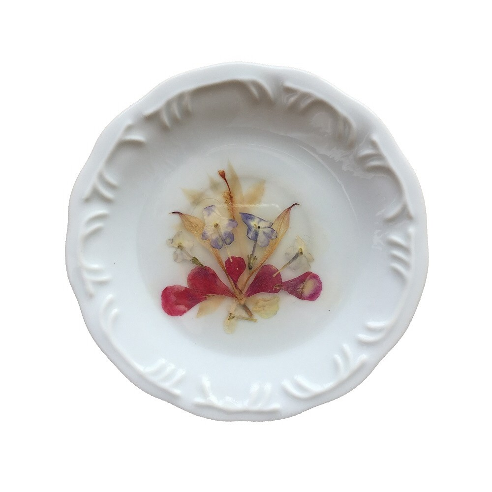 Prato de Porcelana Buquê 16 cm