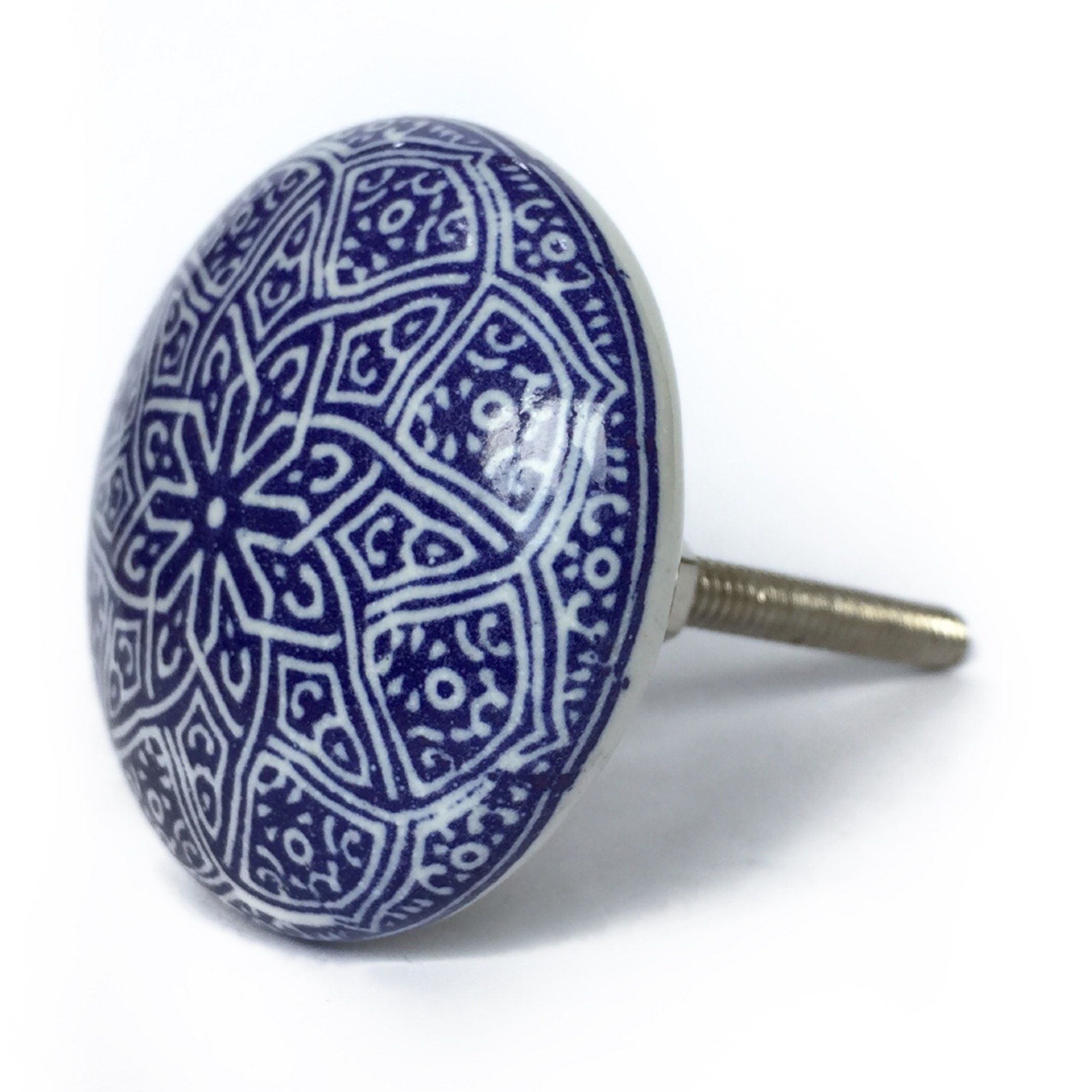 Puxador de Porcelana Decorada Lisboa