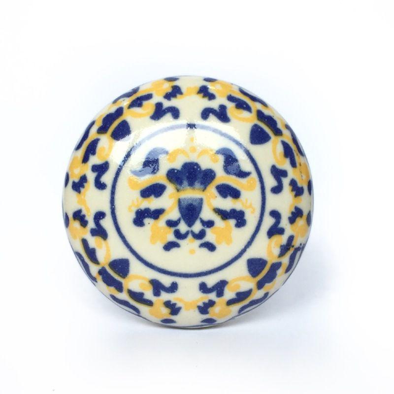 Puxador de Porcelana Decorada Summer - kit 4 pçs