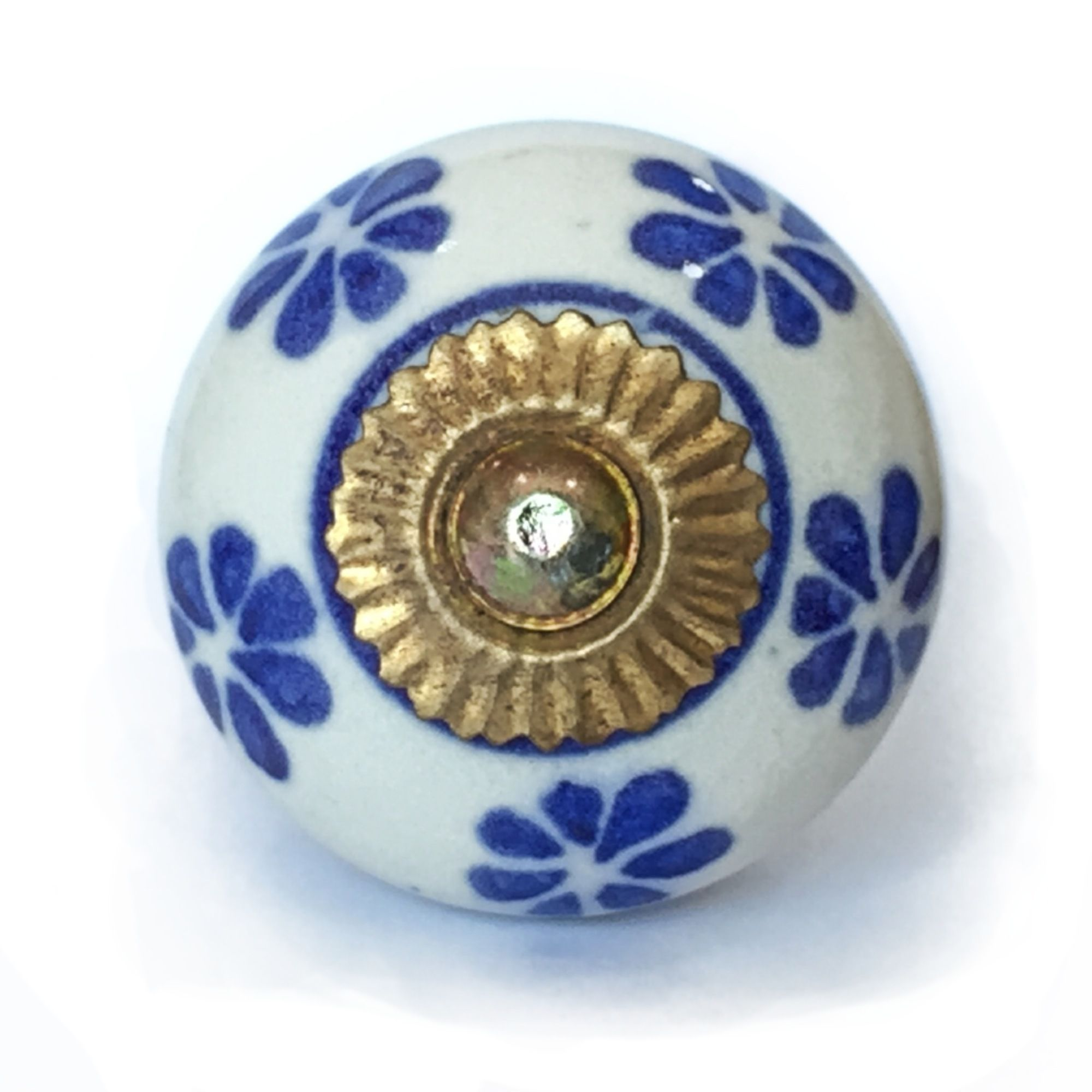 Puxador de Porcelana Diana - kit 4 pçs