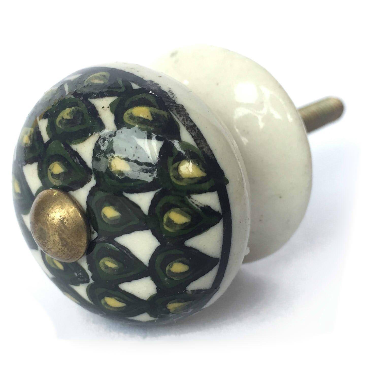 Puxador de Porcelana Escamas Petit
