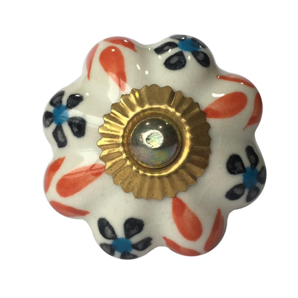 Puxador de Porcelana Flora