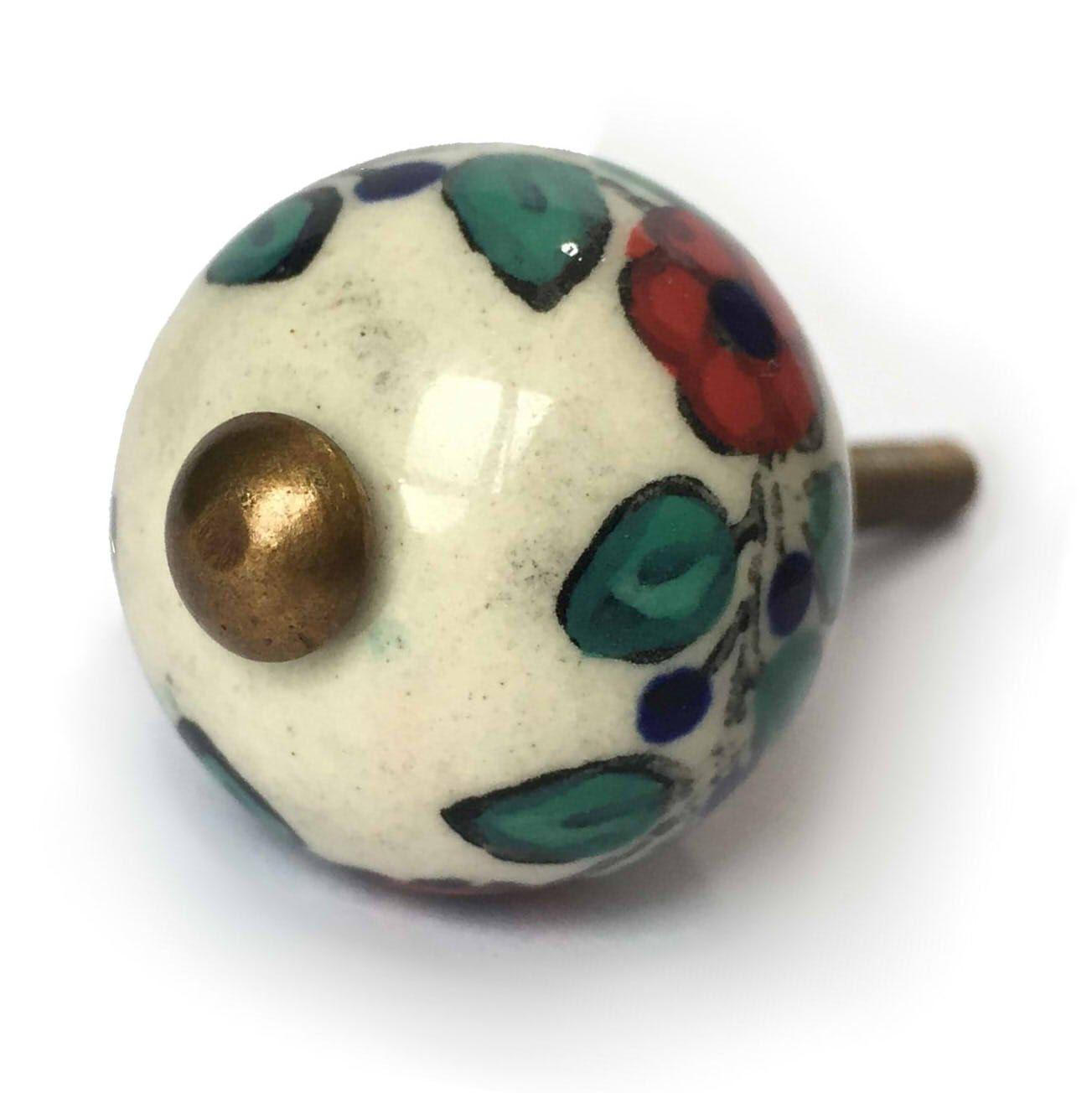 Puxador de Porcelana Floral Petit