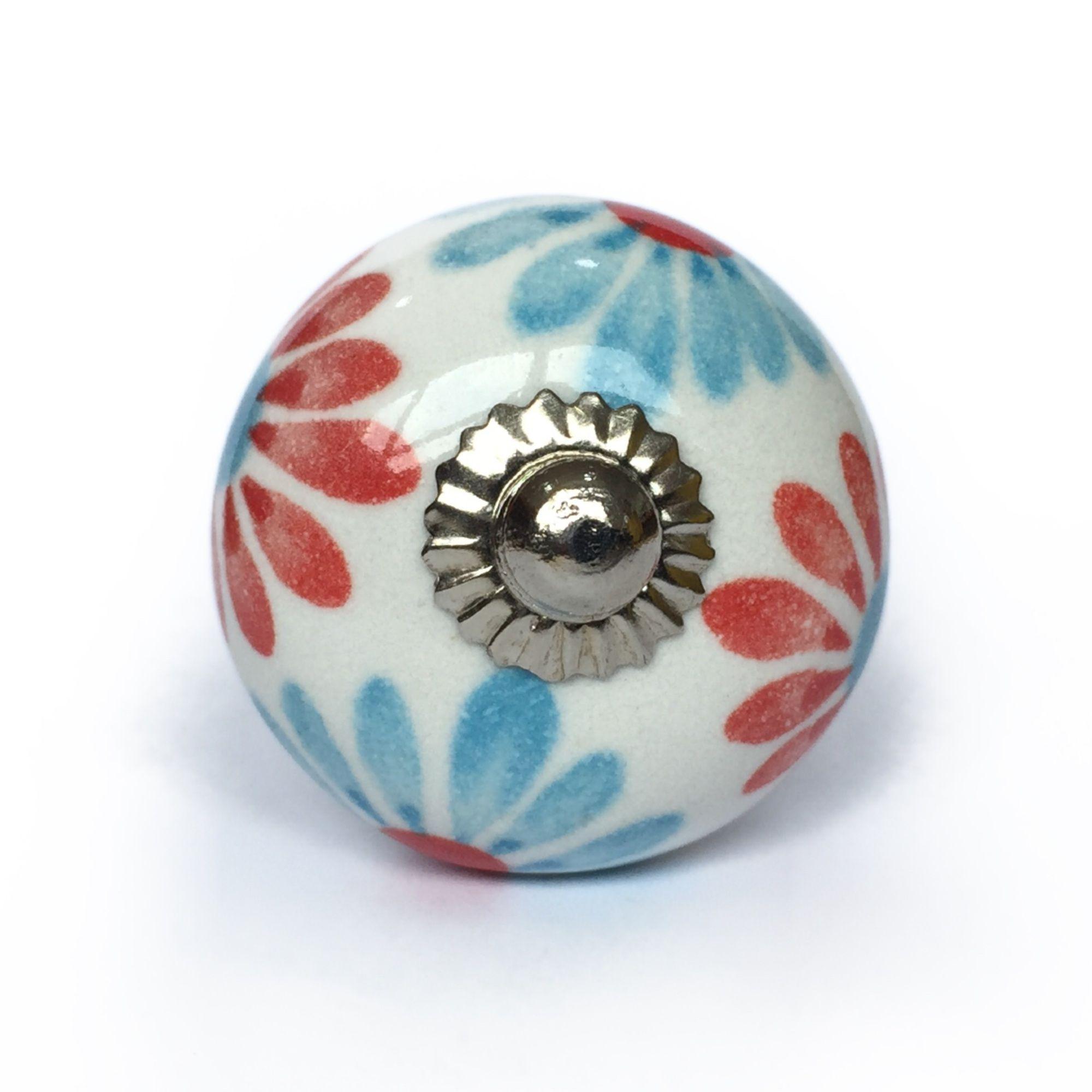 Puxador de Porcelana Julia - kit 4 pçs