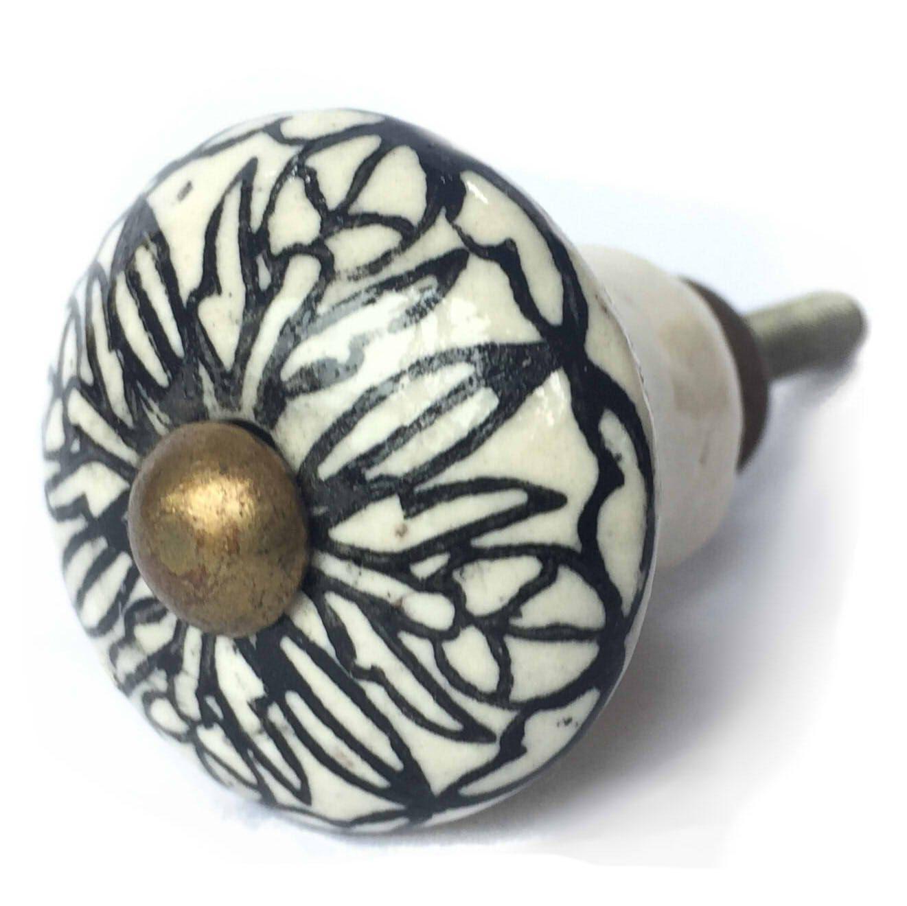 Puxador de Porcelana Noir Petit