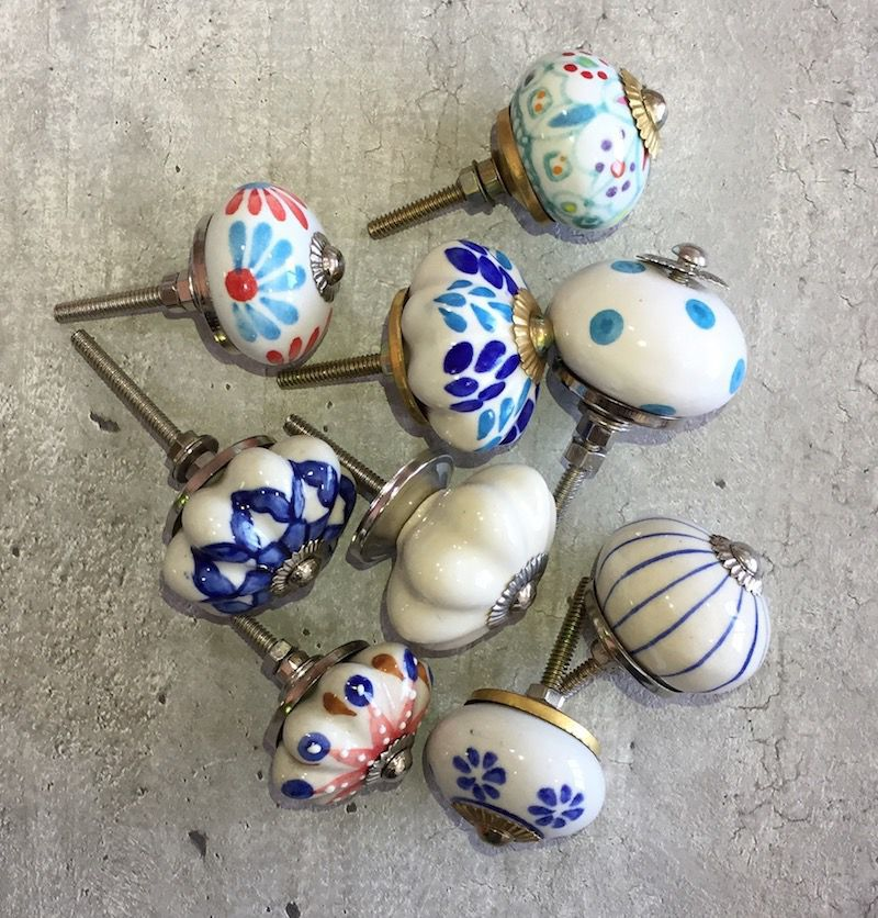 Puxador de Porcelana Sortido