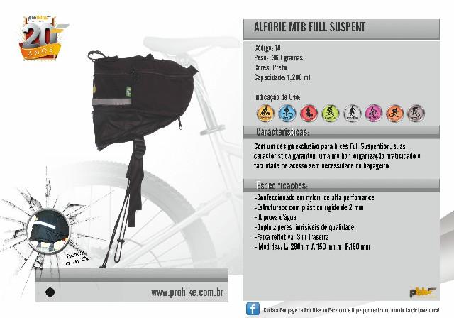 Alforje  MTB Full Suspent Probike
