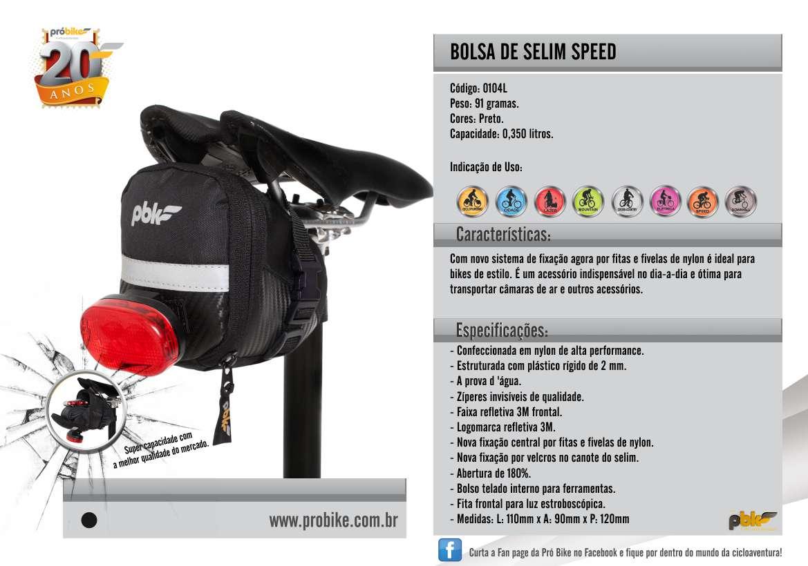 Bolsa de Selim Speed Probike